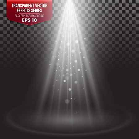 light ray: Transparent Effects Series. Easy replacement of the background