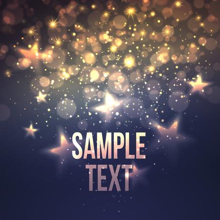 Defocused magic star background. Vettoriali