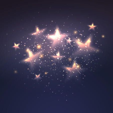 Defocused magic star background. 向量圖像
