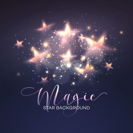 Defocused magic star background. Illustration