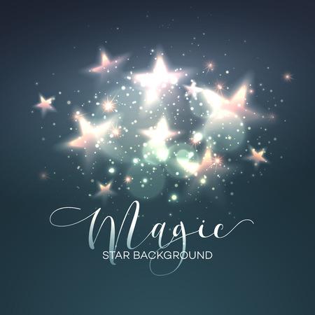 Defocused magic star background. Illusztráció