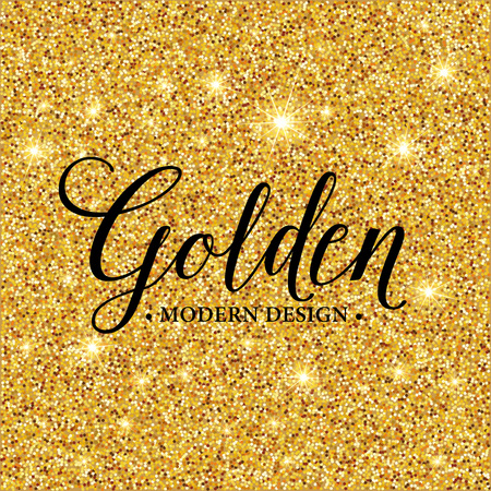Gold glitter texture for background.