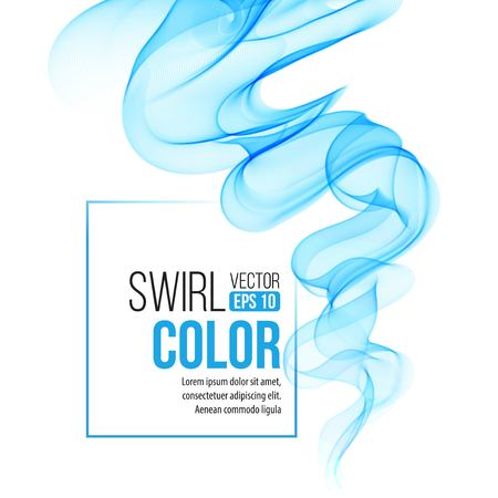 Vector blue swirl line abstract background.