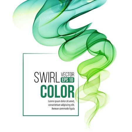 green swirl: Abstract green swirl background.
