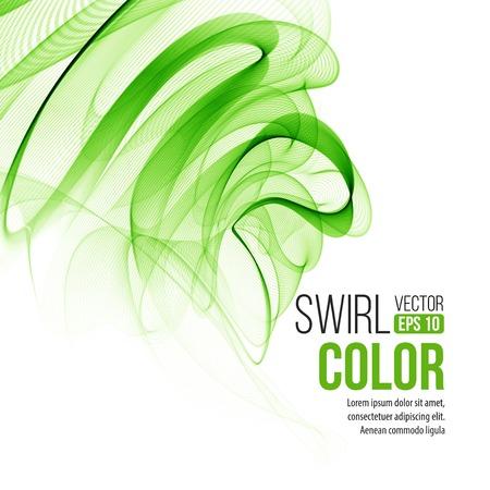 swirl background: Abstract green swirl background.