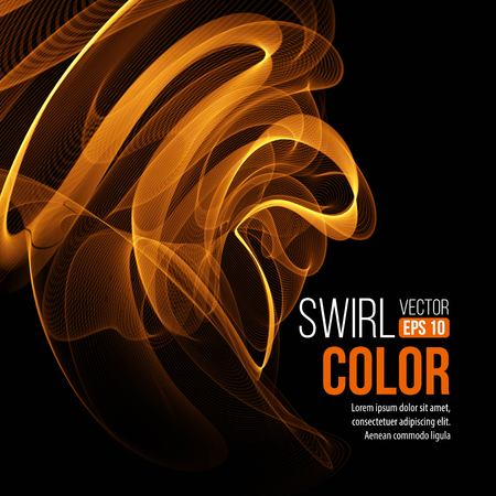 orange swirl: Abstract orange swirl background. Vector illustration EPS10