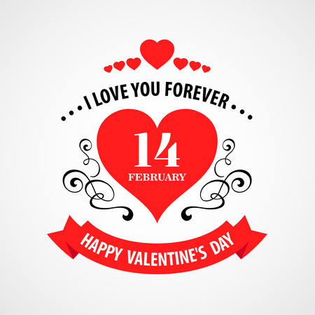 typographical: Happy Valentine Day Typographical Background.