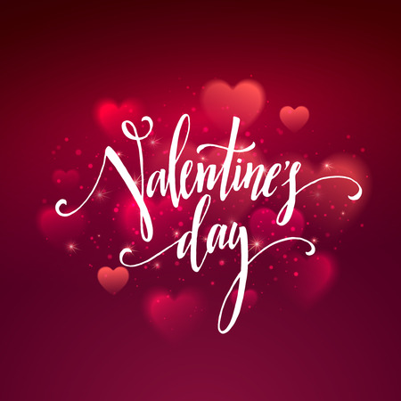 shiny hearts: Shiny hearts bokeh Valentine day background. Vector illustration EPS10