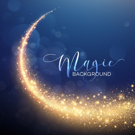 night: Starry Glitter Trail Background. Vector illustration EPS10