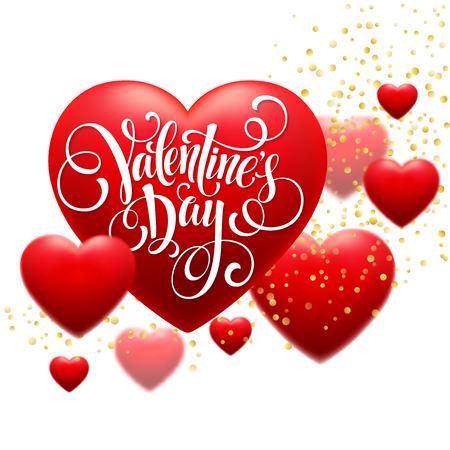 red blur: Red  Blur Hearts Valentine day background. Vector illustration EPS10 Illustration
