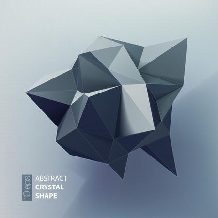 Abstracte driehoeken ruimte laag poly. Veelhoekige vector achtergrond met het aansluiten van stippen en lijnen.