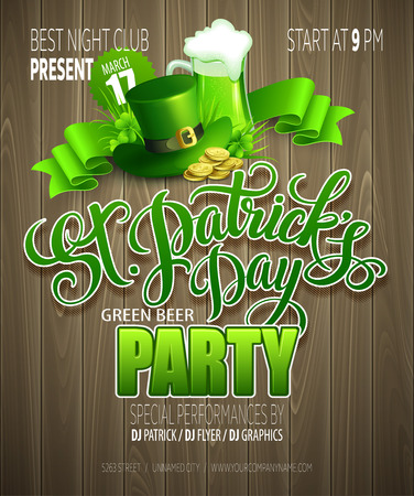 patrick day: St. Patrick Day poster. Vector illustration EPS10