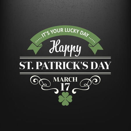 saint patrick's day: Chalk typographic design for St. Patrick Day. Vector illustration EPS10