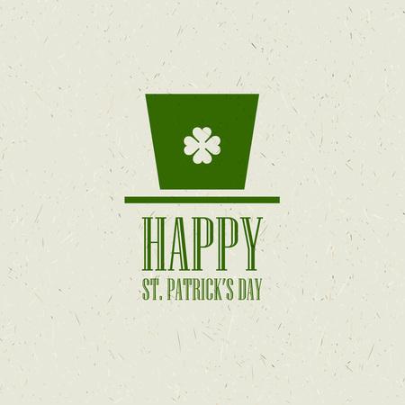 saint patricks: St. Patricks Day flat card design. Vector illustration EPS10 Illustration