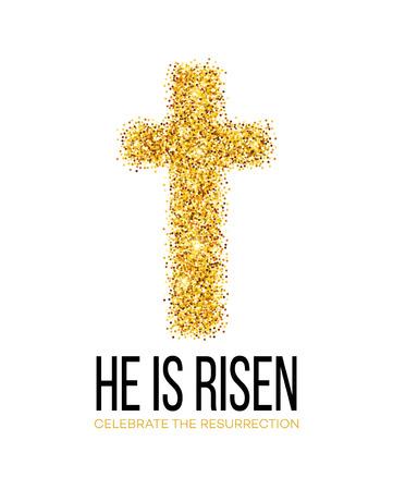 L ha resucitado. Fondo de Pascua. ilustración vectorial EPS10 Foto de archivo - 52029047