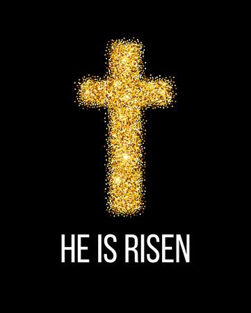 he: He is risen. Easter background. Vector illustration EPS10 Illustration