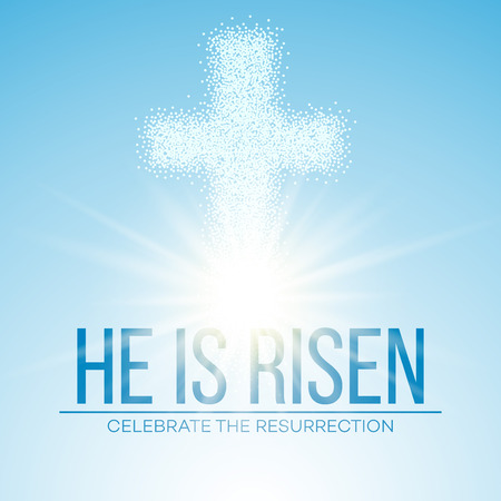 He is risen. Easter background. Vector illustration EPS10 Imagens - 52029409