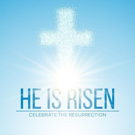 risen: He is risen. Easter background. Vector illustration EPS10 Illustration