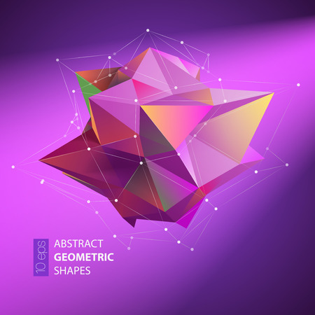 full color: Abstract Geometric backgrounds full Color. Vector illustration EPS10
