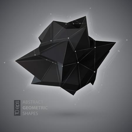 Résumé forme géométrique cristal triangulaire. Vector illustration EPS10
