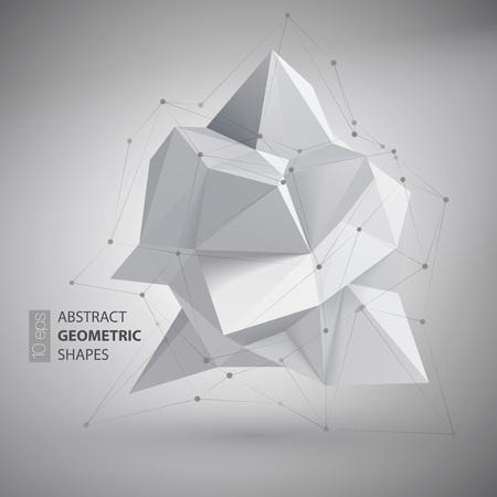 Lage veelhoek geometrie vorm. Vector illustratie EPS10 Stock Illustratie