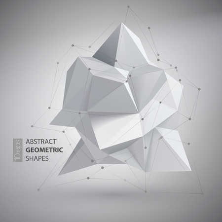 Low polygon geometry shape. Vector illustration EPS10