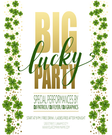religious music: Lucky Party Poster. St. Patricks Day. Vector illustration EPS10 Illustration