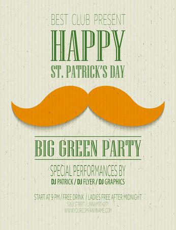 st: St. Patricks Day retro poster. Vector illustration EPS10