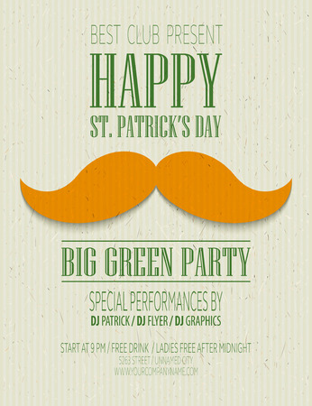 St. Patricks Day retro poster. Vector illustration EPS10