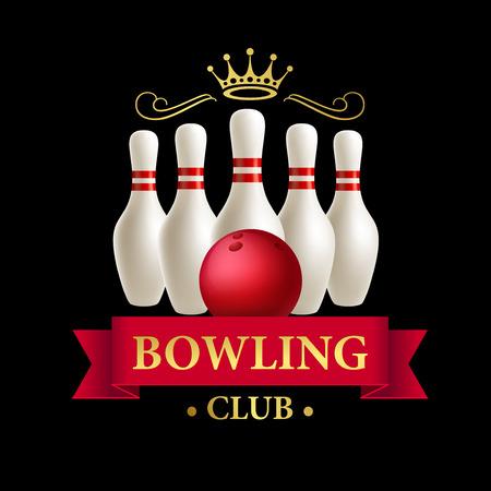 skittle: Scattered skittle and bowling ball. Vector illustration EPS10 Illustration