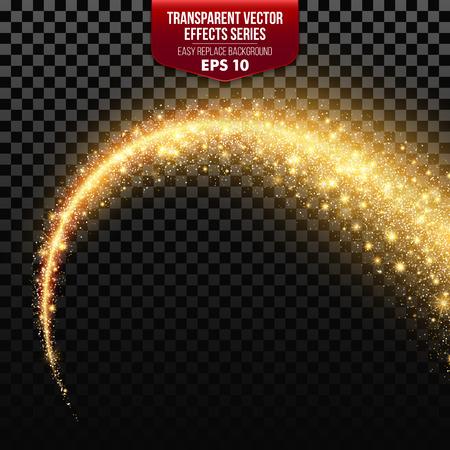 Transparante witte ster parcours met deeltjes. Vector effecten EPS10 矢�图�