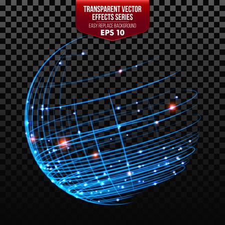 global network: Illustration of Global Network Wireframe Globe Ball. Vector illustration EPS10