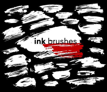Detail ink brush paint stroke. Vector illustration EPS10