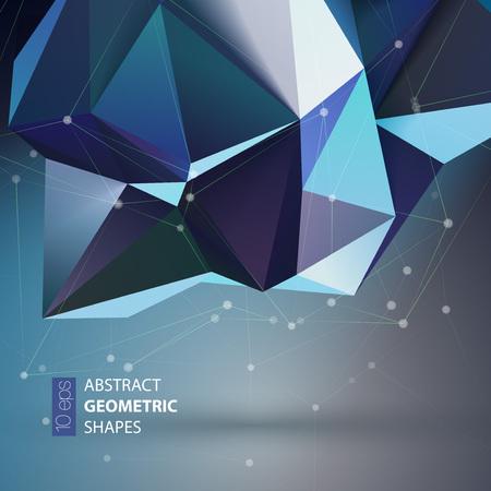 triangular: Bright blue Polygon geometry shape. Vector illustration EPS10