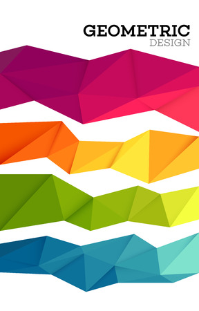 Abstract geometric triangle low poly set. Vector illustration EPS10  イラスト・ベクター素材