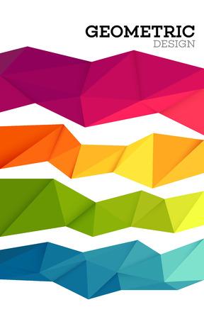 amarillo: conjunto abstracto geométrica del triángulo poli baja. ilustración vectorial EPS10