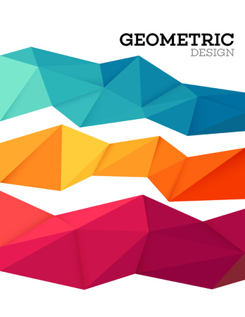 Abstract geometric triangle low poly set. Vector illustration EPS10 Ilustrace