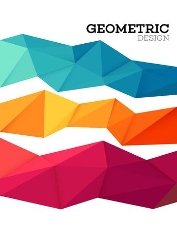 Abstract geometrische driehoek laag poly ingesteld. Vector illustratie EPS10 Stock Illustratie