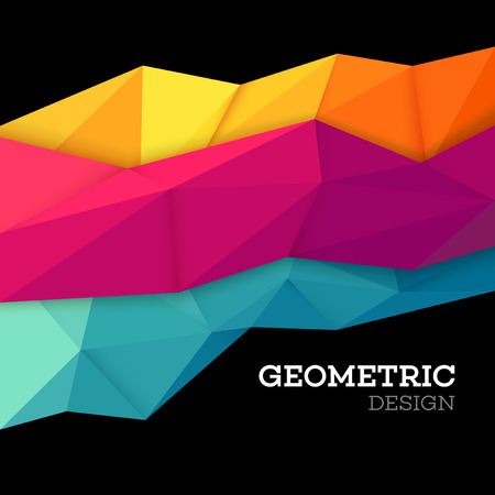 Abstract geometric triangle low poly set. Vector illustration EPS10 Ilustração