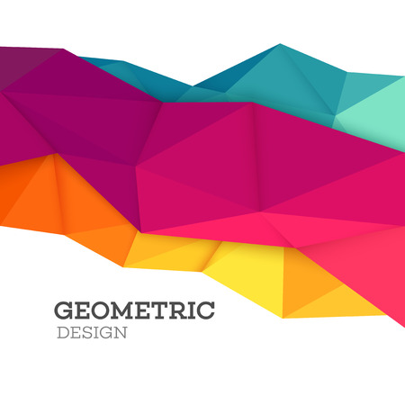 Abstract geometric triangle low poly set. Vector illustration EPS10 Çizim