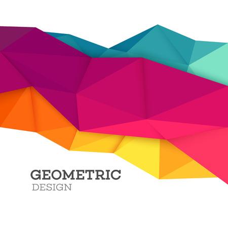 geometricos: conjunto abstracto geométrica del triángulo poli baja. ilustración vectorial EPS10