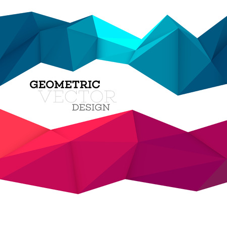 Abstract geometric triangle low poly set. Vector illustration EPS10 일러스트