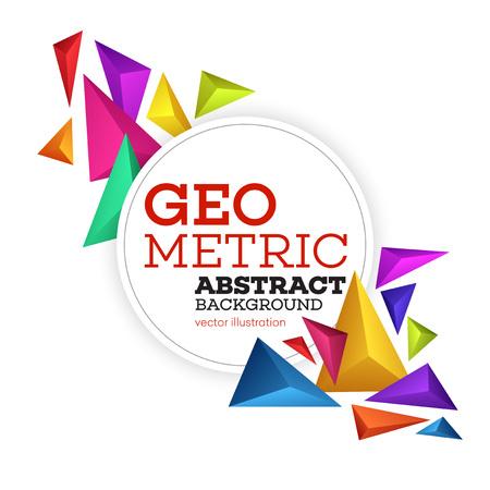 Vector Resumen geométrica de fondo colorido. Folleto de diseño, portada, sitio web y folleto Ilustración de vector