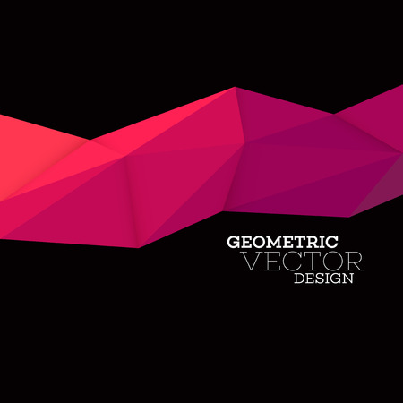 Abstract geometric triangle low poly set. Vector illustration EPS10 Stock Illustratie