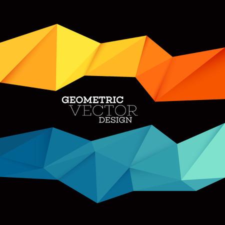 抽象的な幾何学的な三角形の低ポリのセット。ベクトル図 EPS10