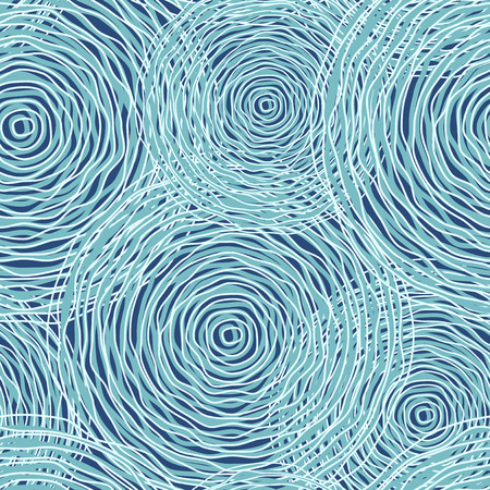 blue circles: Blue colored circles seamless pattern. Vector illustration EPS10