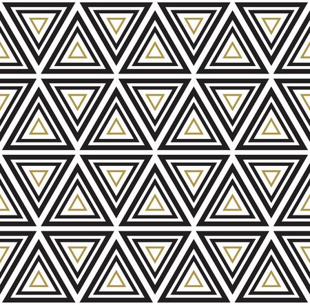 Vector seamless pattern. Modern stylish texture. Black and white seamless geometric pattern. Vettoriali