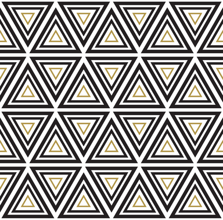 Vector seamless pattern. Modern stylish texture. Black and white seamless geometric pattern. Illustration