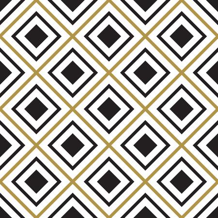 Vector seamless pattern. Modern stylish texture. Black and white seamless geometric pattern. 矢量图像