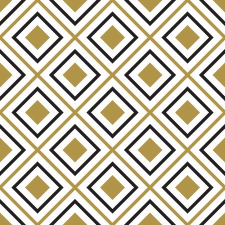 Vector seamless pattern. Modern stylish texture. Black and white seamless geometric pattern. Stock Illustratie